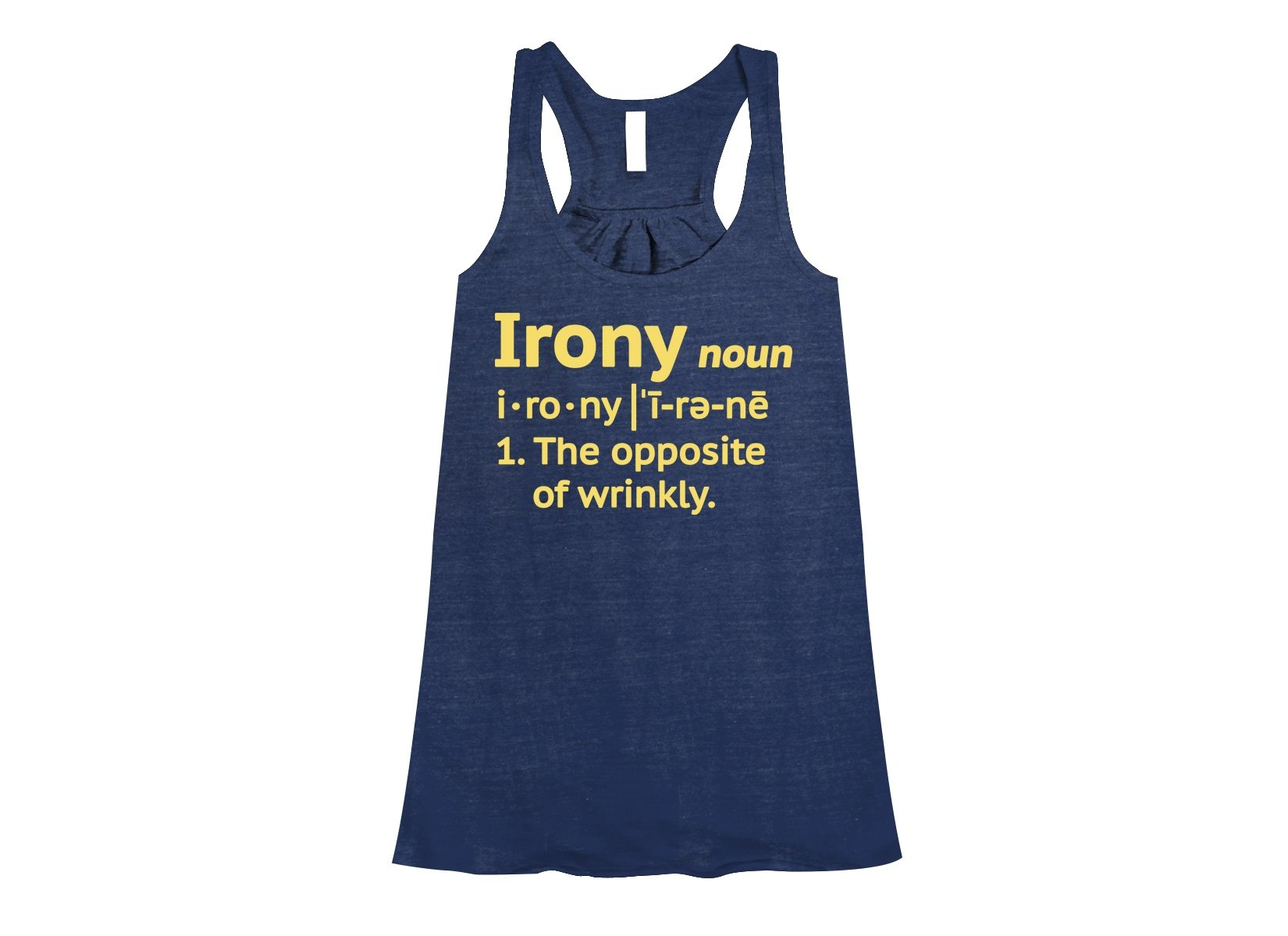 Irony Definition on Womens Tanks T-Shirt