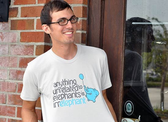 Anything Unrelated Elephants on Mens T-Shirt