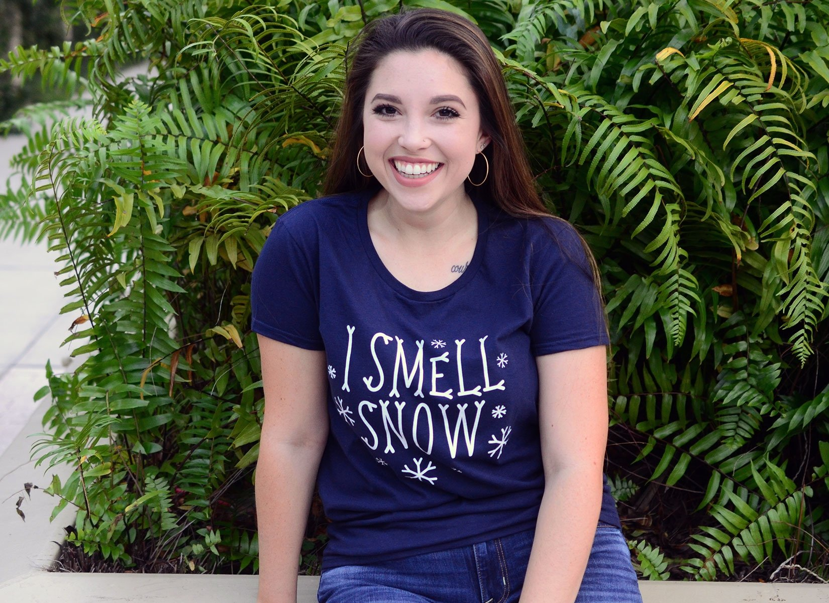 I Smell Snow on Womens T-Shirt