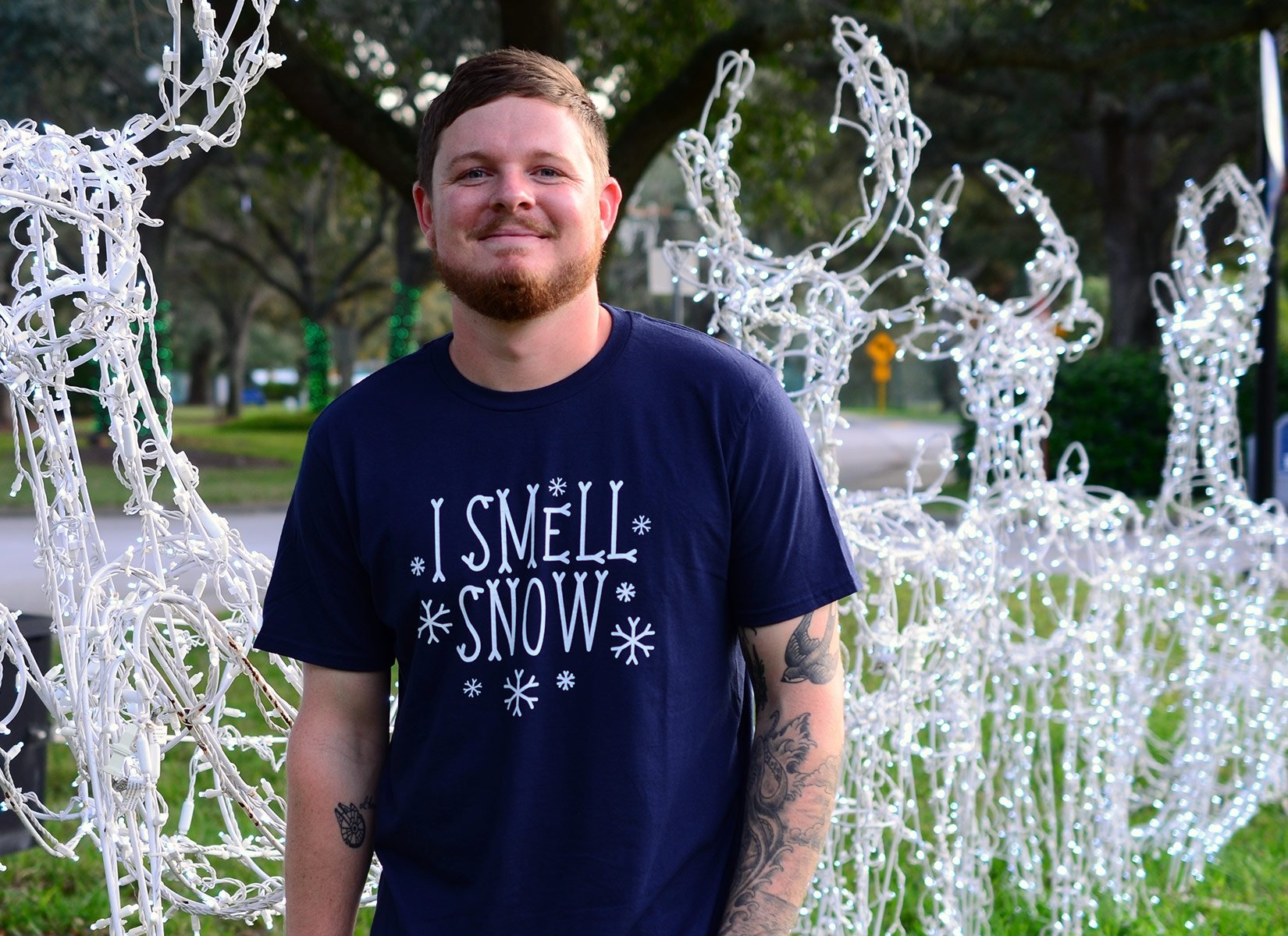 I Smell Snow on Mens T-Shirt