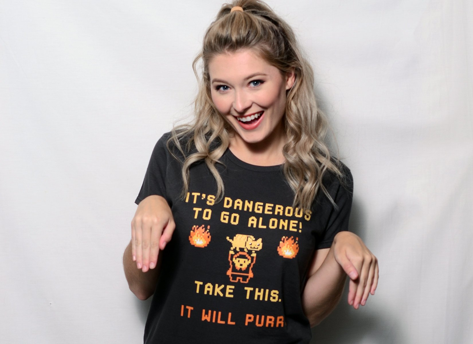 It's Dangerous To Go Alone on Womens T-Shirt