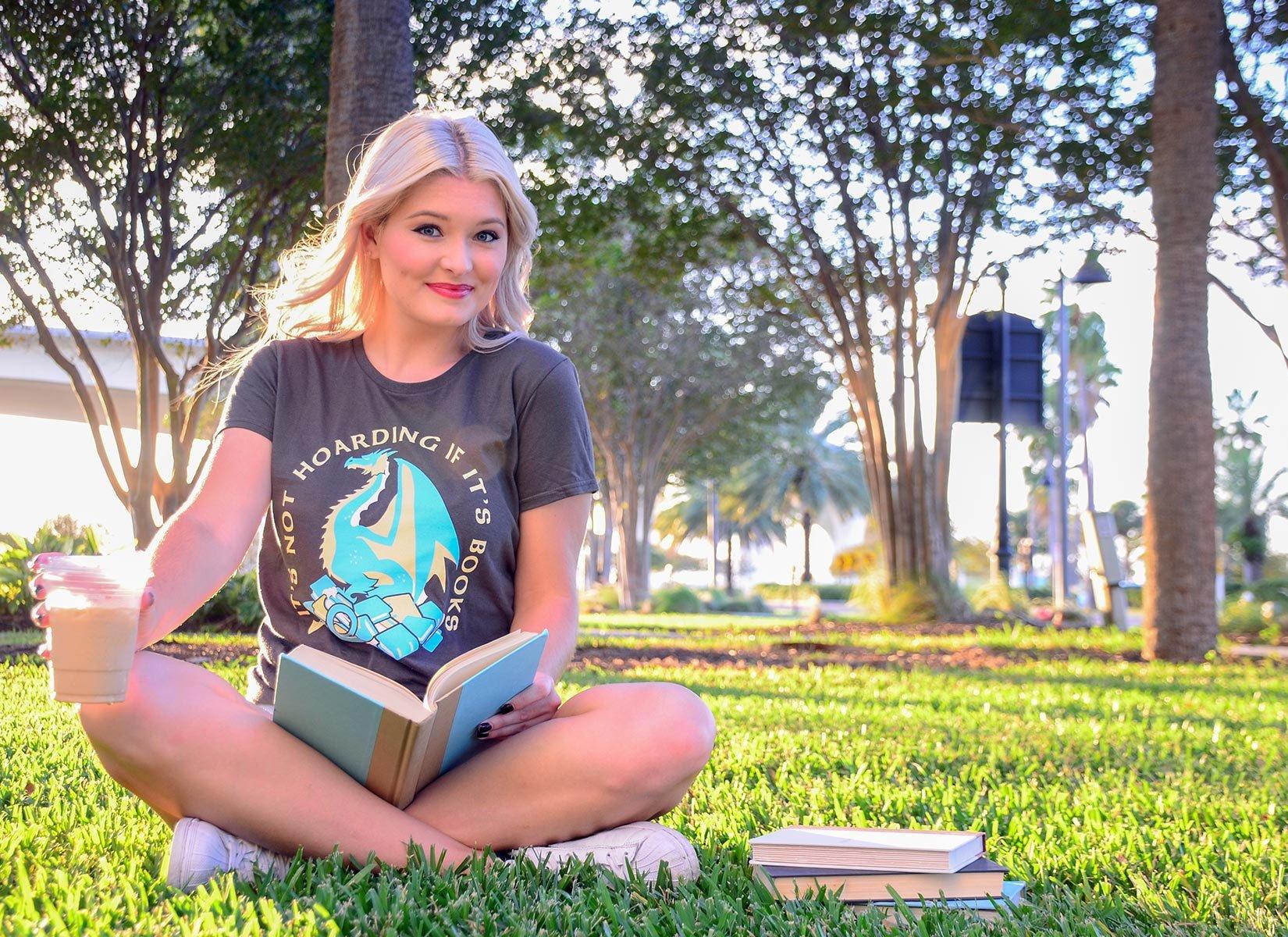 It's Not Hoarding If It's Books on Womens T-Shirt