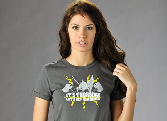 It's Thorsday, Let's Get Hammered on Juniors T-Shirt