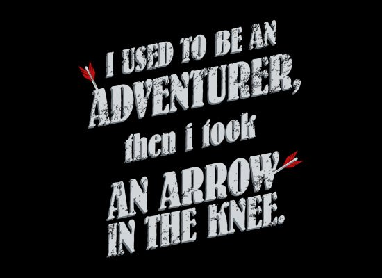 I Used To Be An Adventurer on Mens T-Shirt