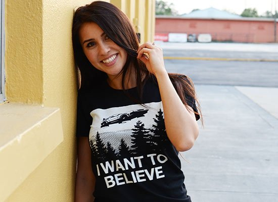 I Want To Believe on Juniors T-Shirt