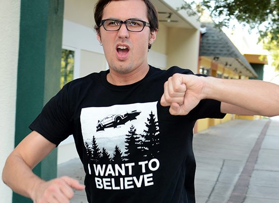 I Want To Believe on Mens T-Shirt