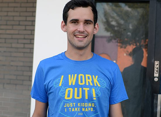 I Work Out! Just Kidding. I Take Naps. on Mens T-Shirt