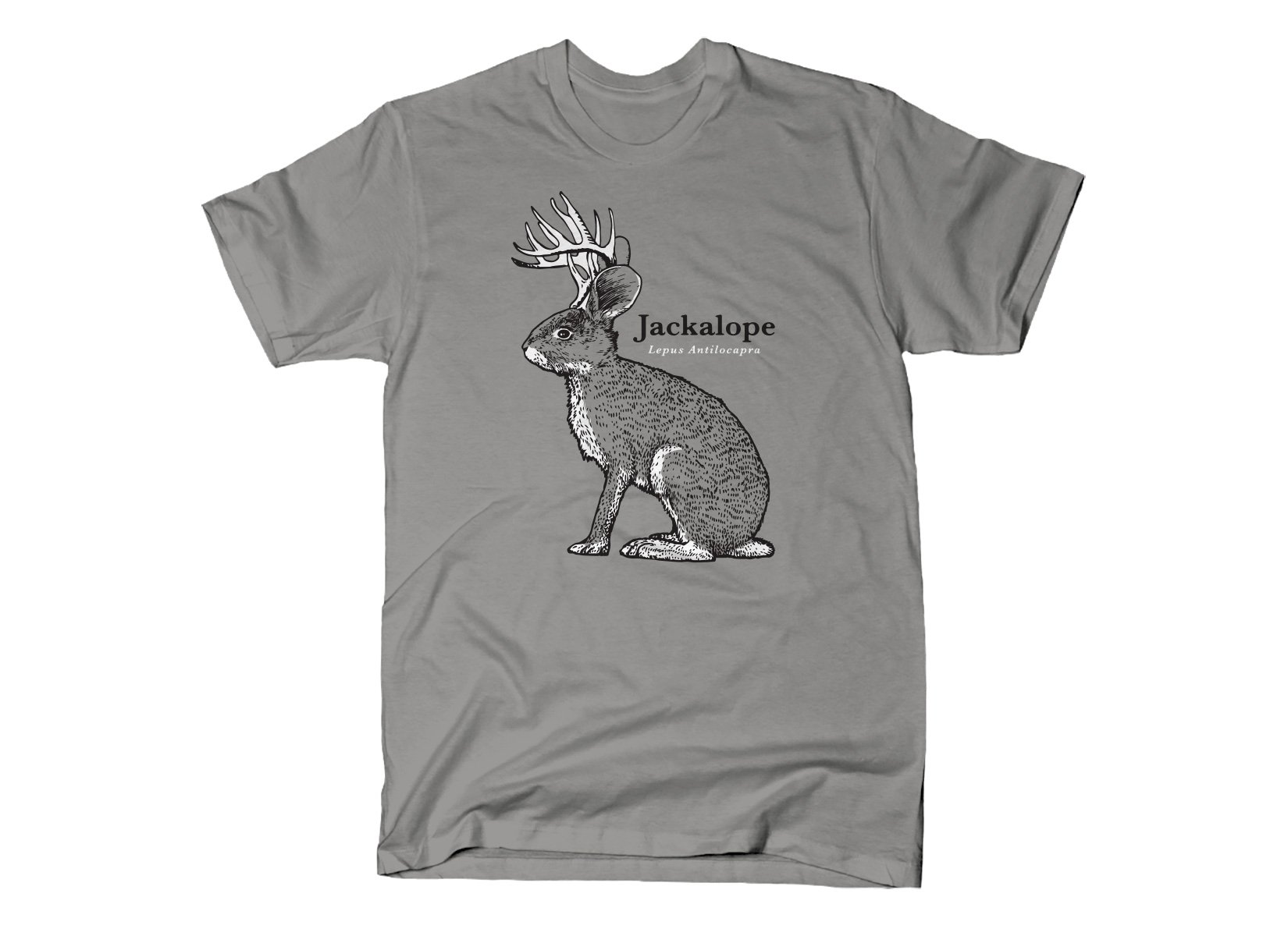 Jackalope on Mens T-Shirt