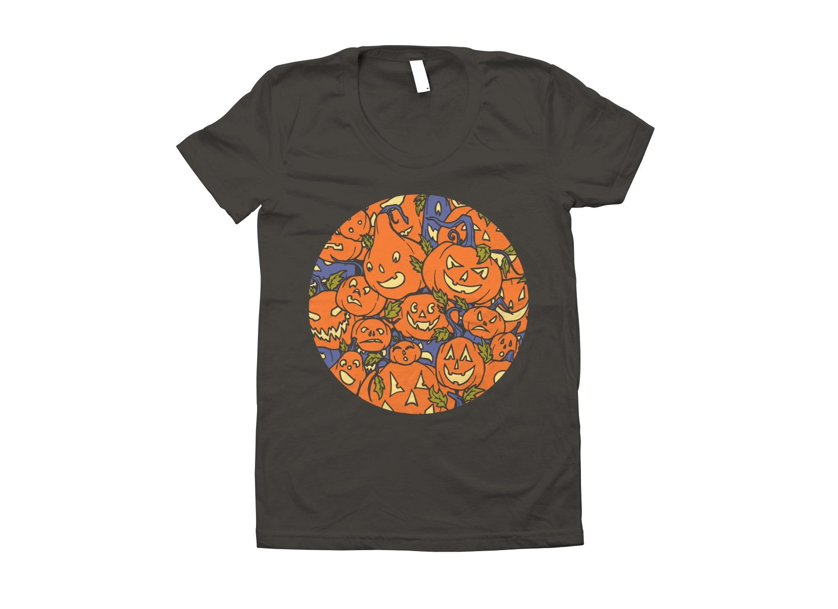Jack-O-Lanterns on Juniors T-Shirt