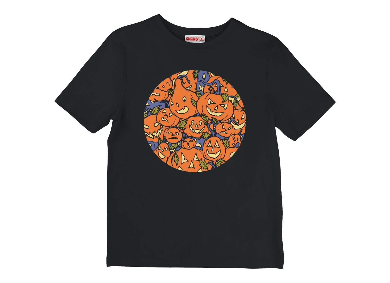 Jack-O-Lanterns on Kids T-Shirt