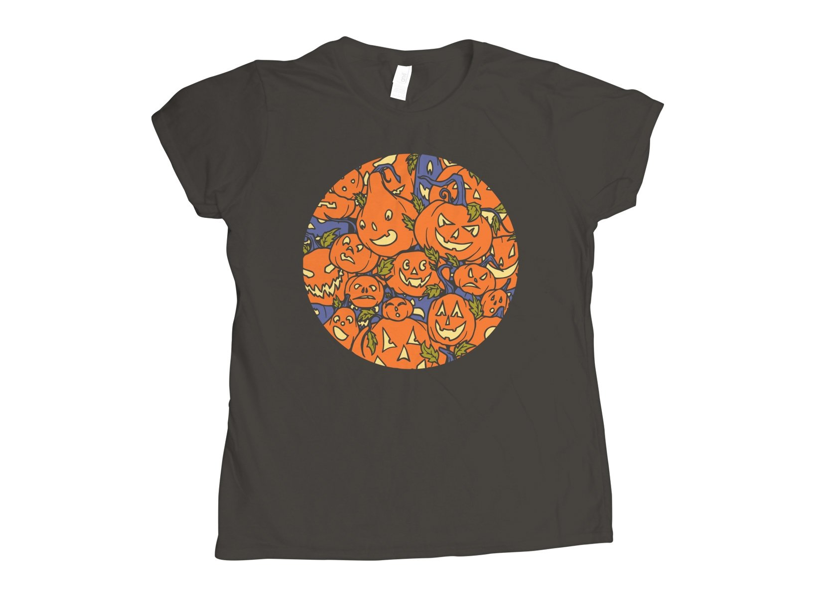 Jack-O-Lanterns on Womens T-Shirt