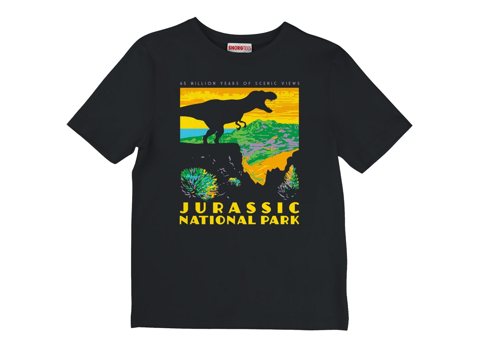 Jurassic National Park on Kids T-Shirt