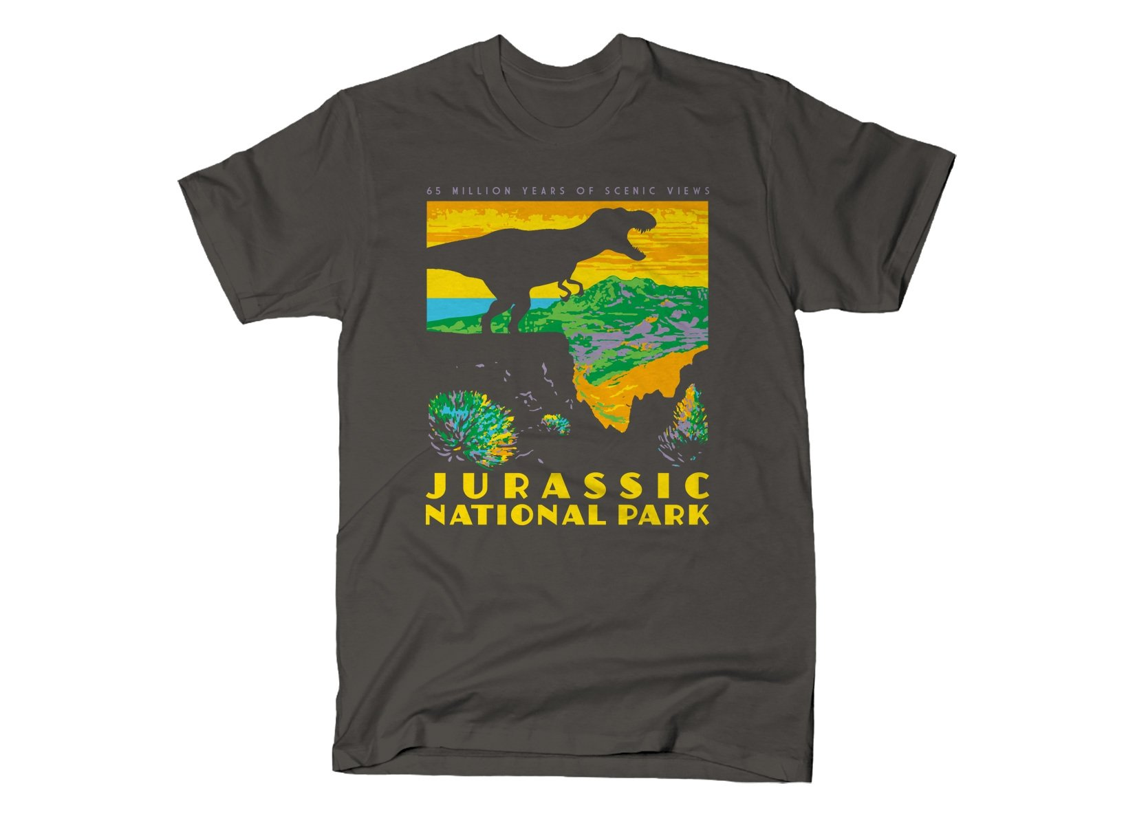 Jurassic National Park on Mens T-Shirt