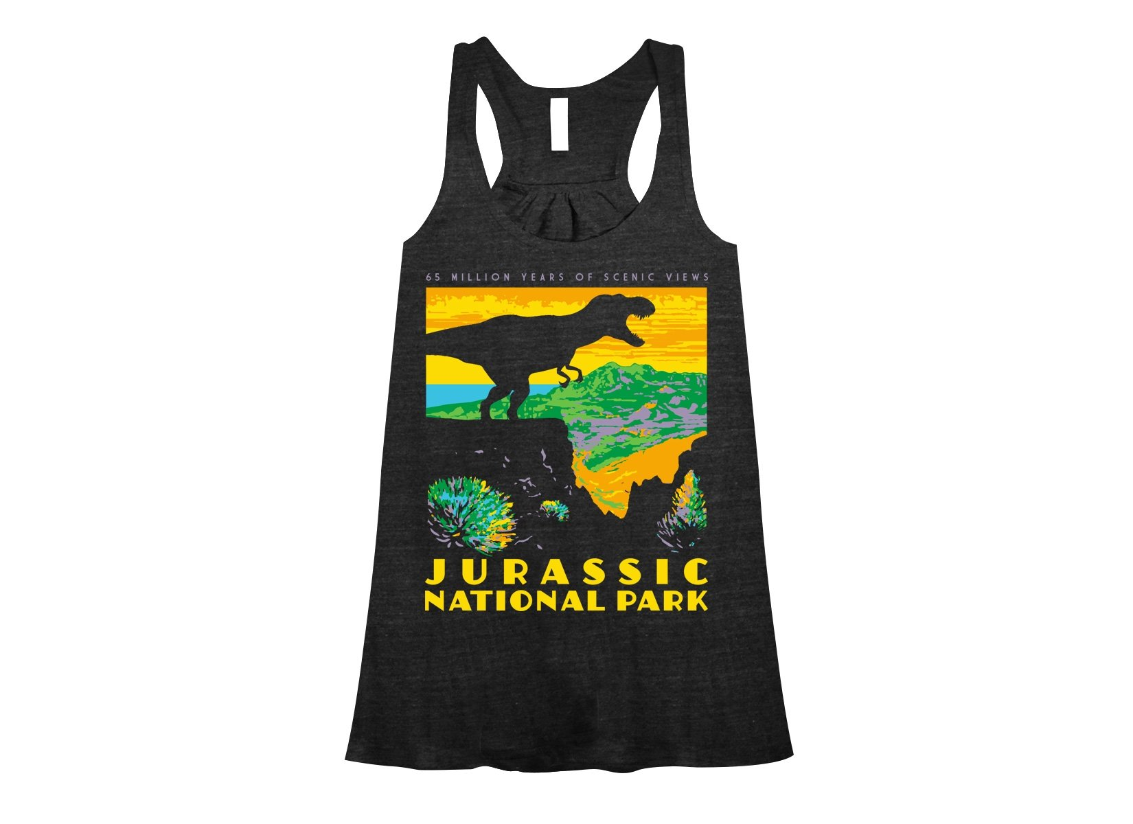 Jurassic National Park on Womens Tanks T-Shirt