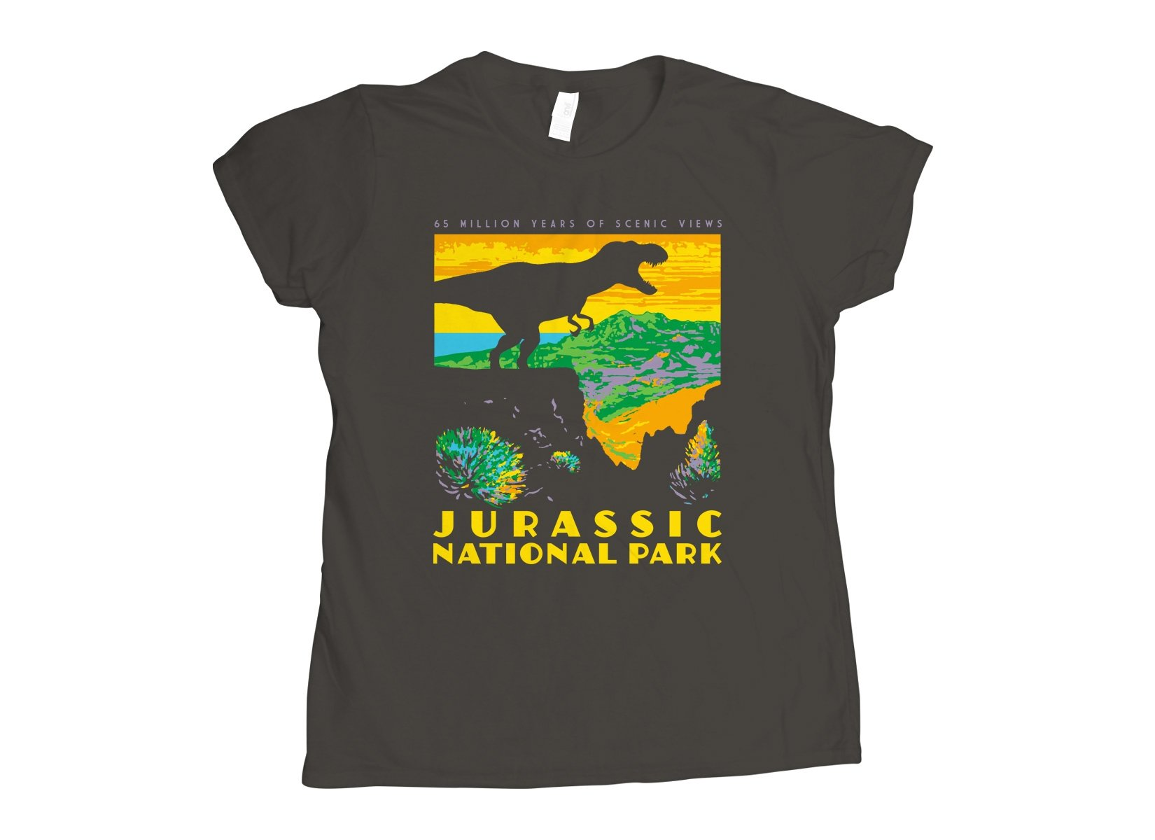 Jurassic National Park on Womens T-Shirt