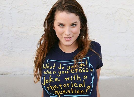 When You Cross A Joke With A Rhetorical Question? on Juniors T-Shirt