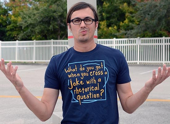 When You Cross A Joke With A Rhetorical Question? on Mens T-Shirt