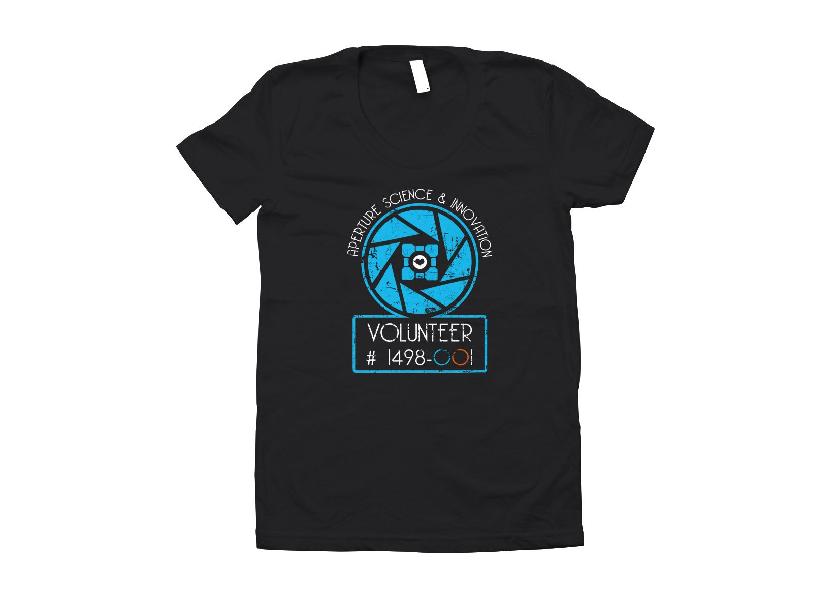 Aperture Science Volunteer on Juniors T-Shirt