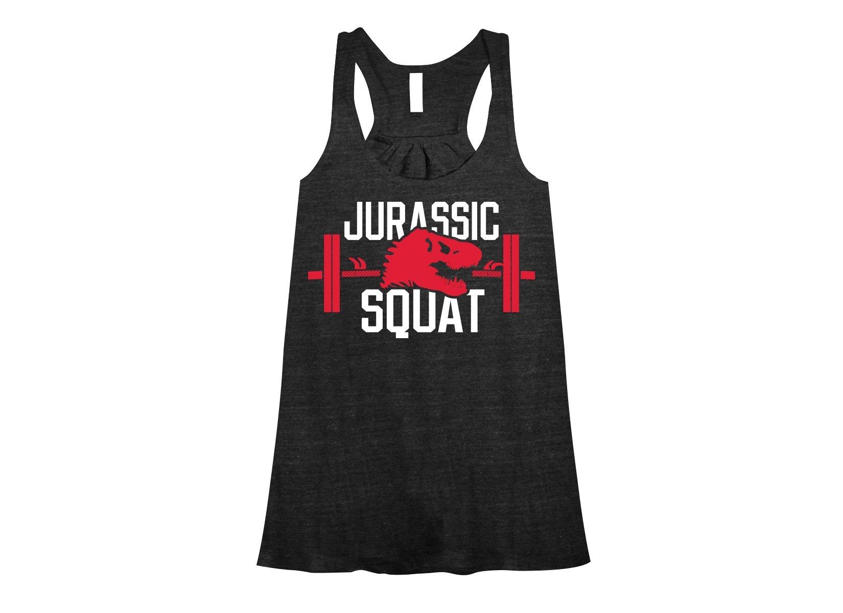Jurassic Squat on Womens Tanks T-Shirt