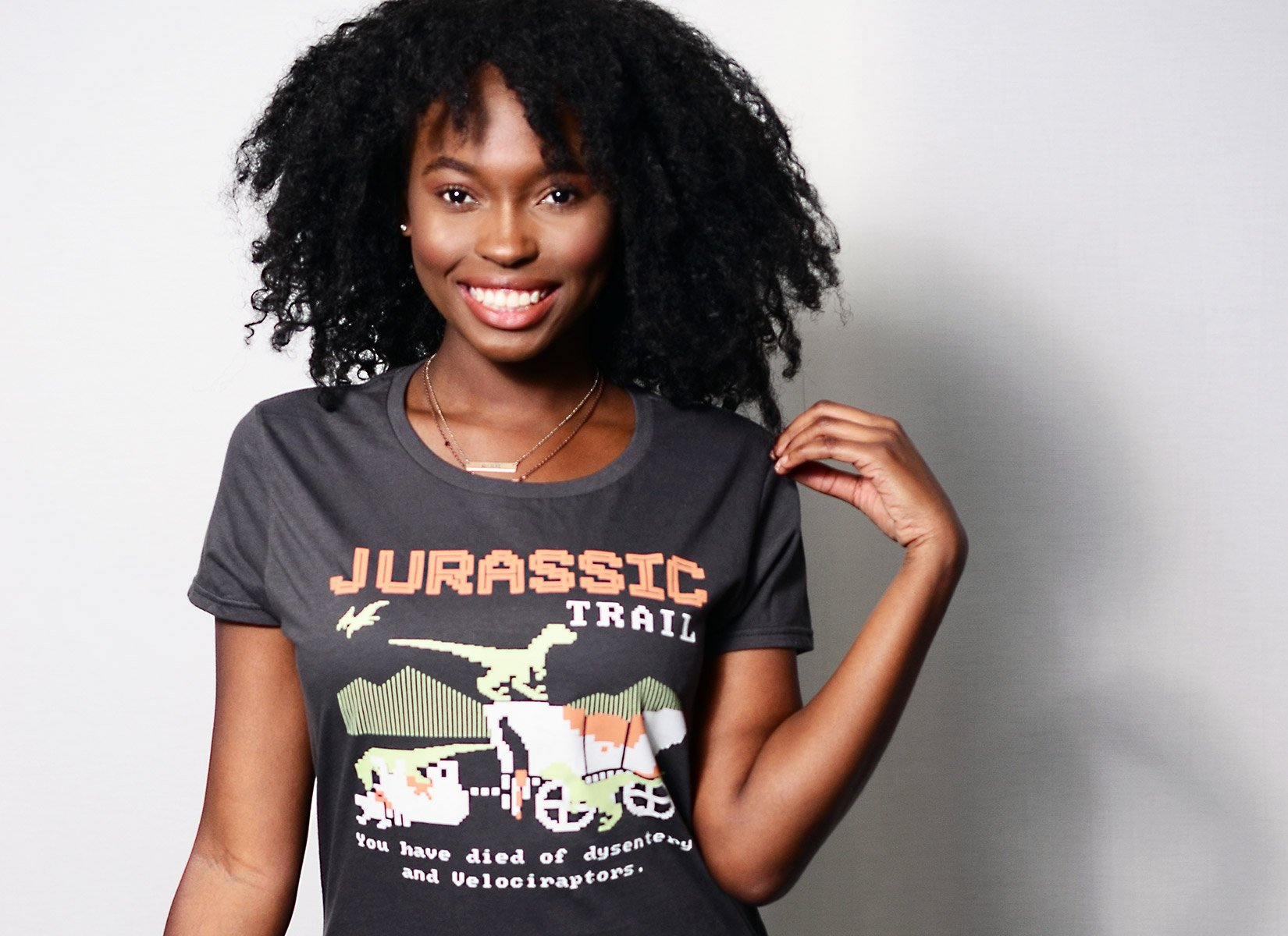 Jurassic Trail on Womens T-Shirt