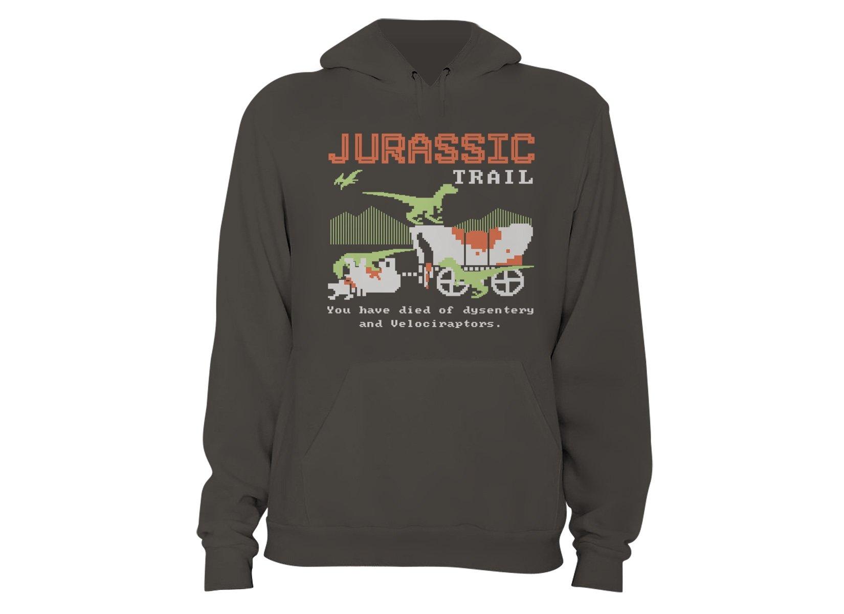 Jurassic Trail on Hoodie