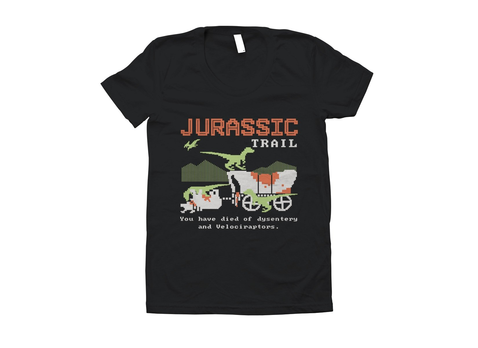 Jurassic Trail on Juniors T-Shirt