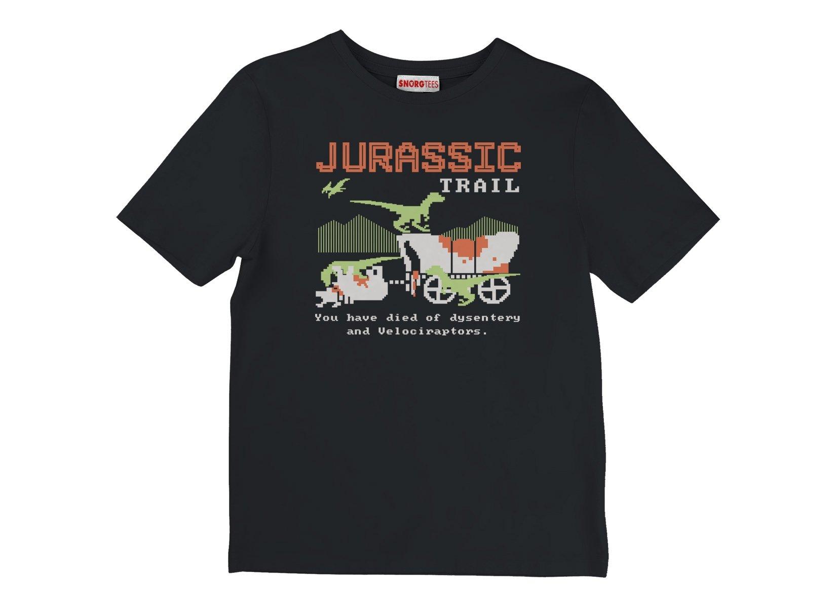 Jurassic Trail on Kids T-Shirt