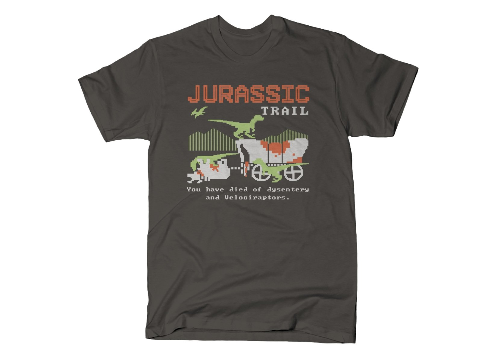 Jurassic Trail on Mens T-Shirt