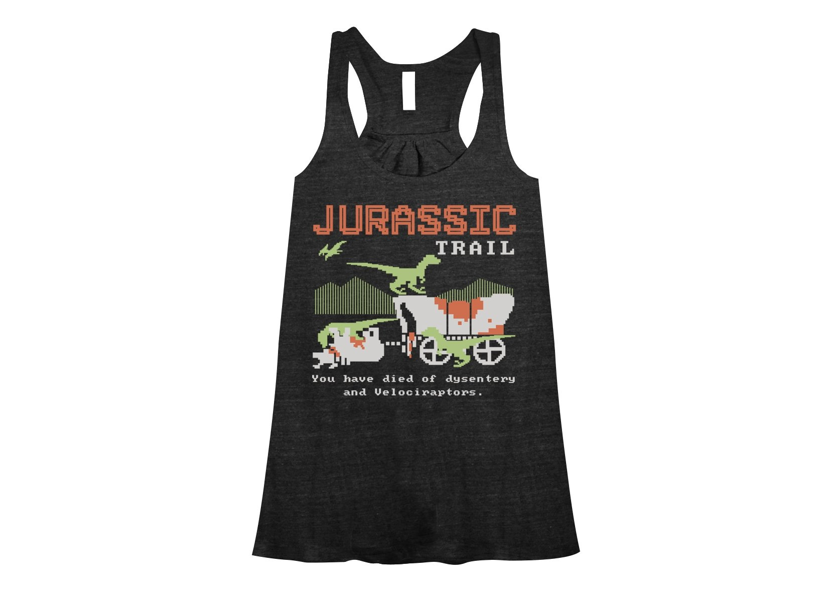 Jurassic Trail on Womens Tanks T-Shirt