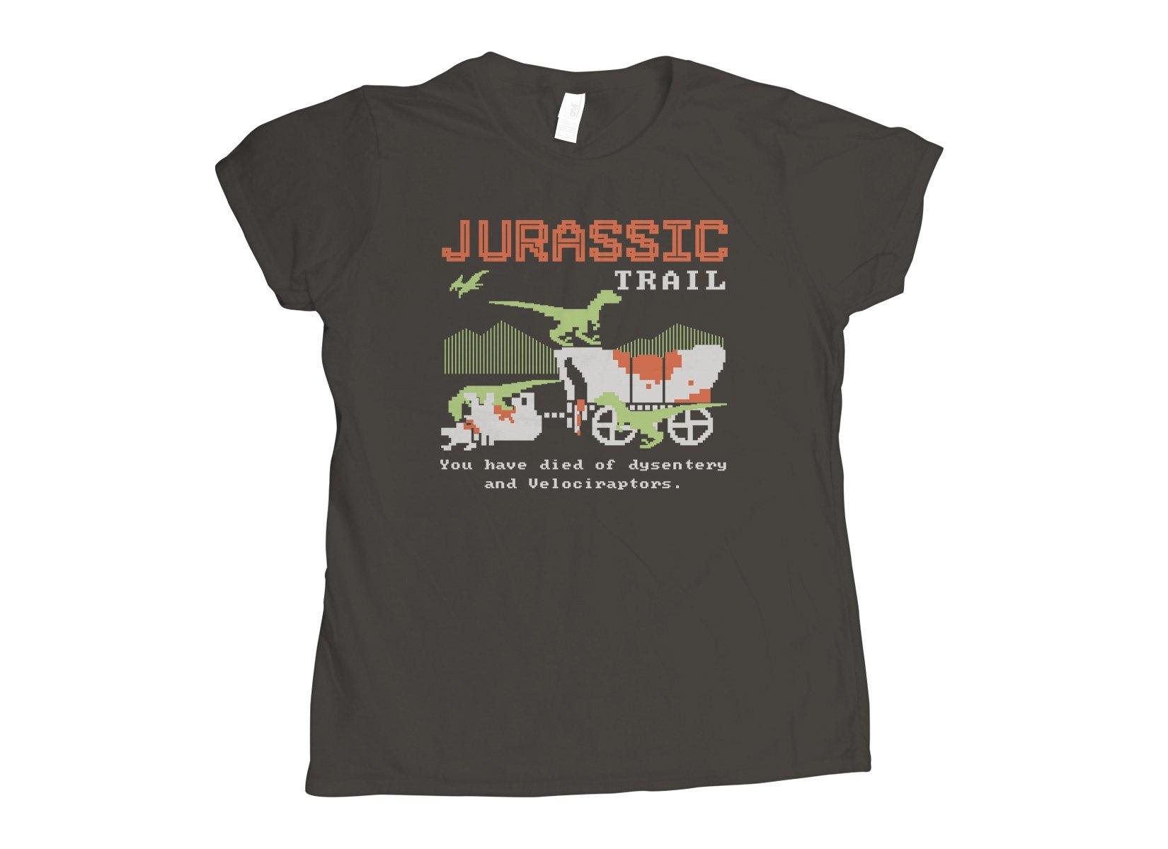 Jurassic Trail on Womens T-Shirt
