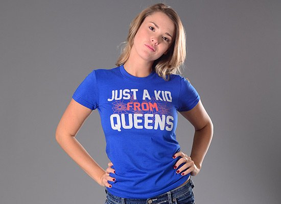 Just A Kid From Queens on Juniors T-Shirt
