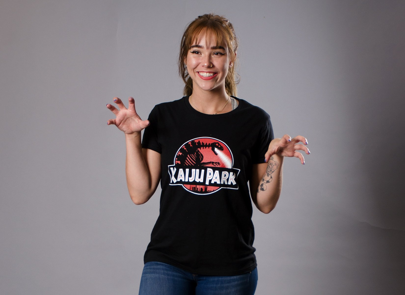 Kaiju Park on Womens T-Shirt