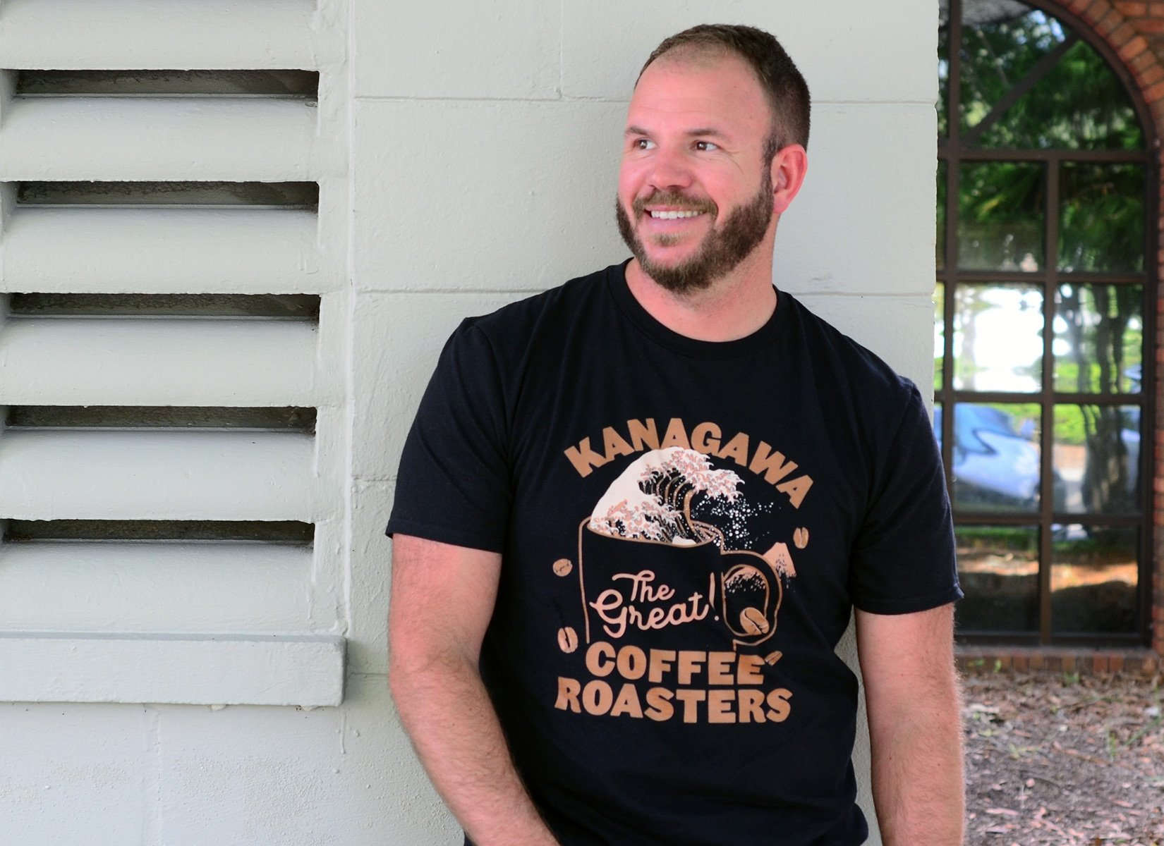 Kanagawa Coffee Roasters on Mens T-Shirt