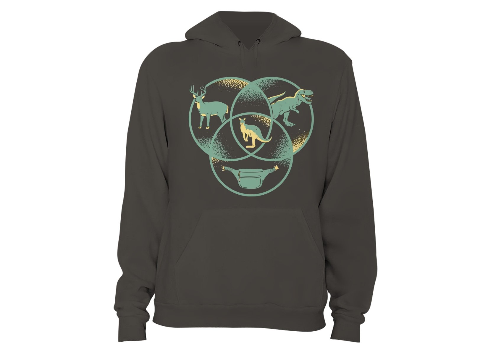 Kangaroo Venn Diagram on Hoodie
