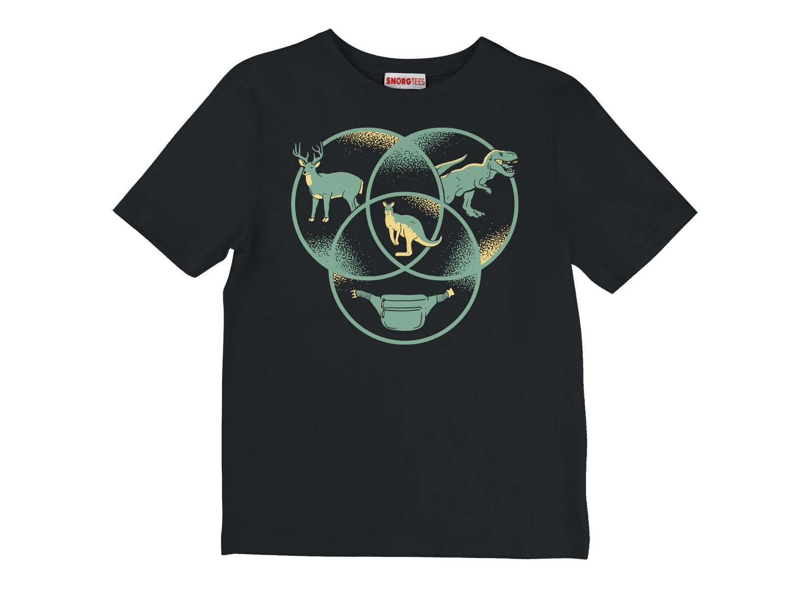 Kangaroo Venn Diagram on Kids T-Shirt