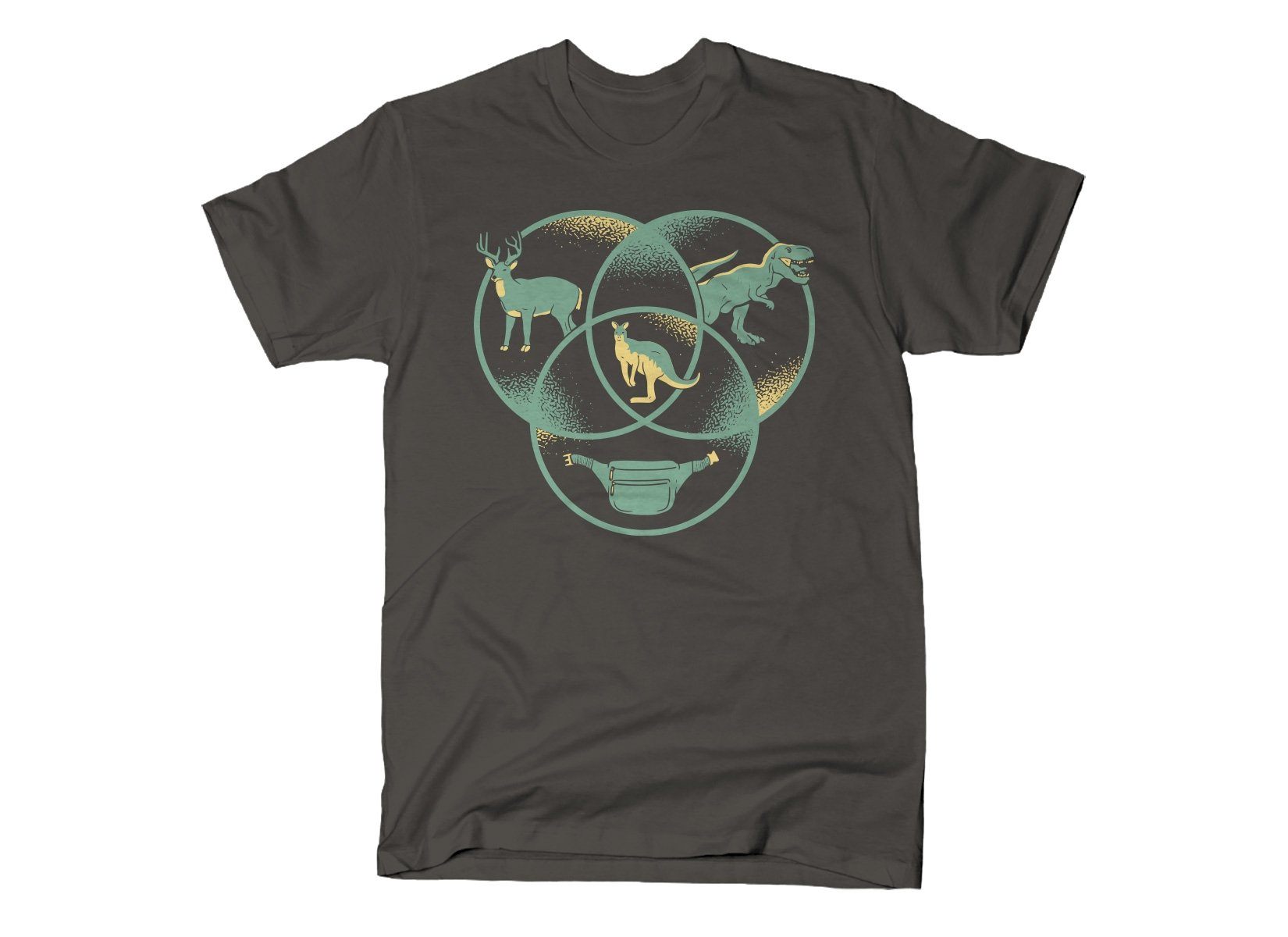 Kangaroo Venn Diagram on Mens T-Shirt