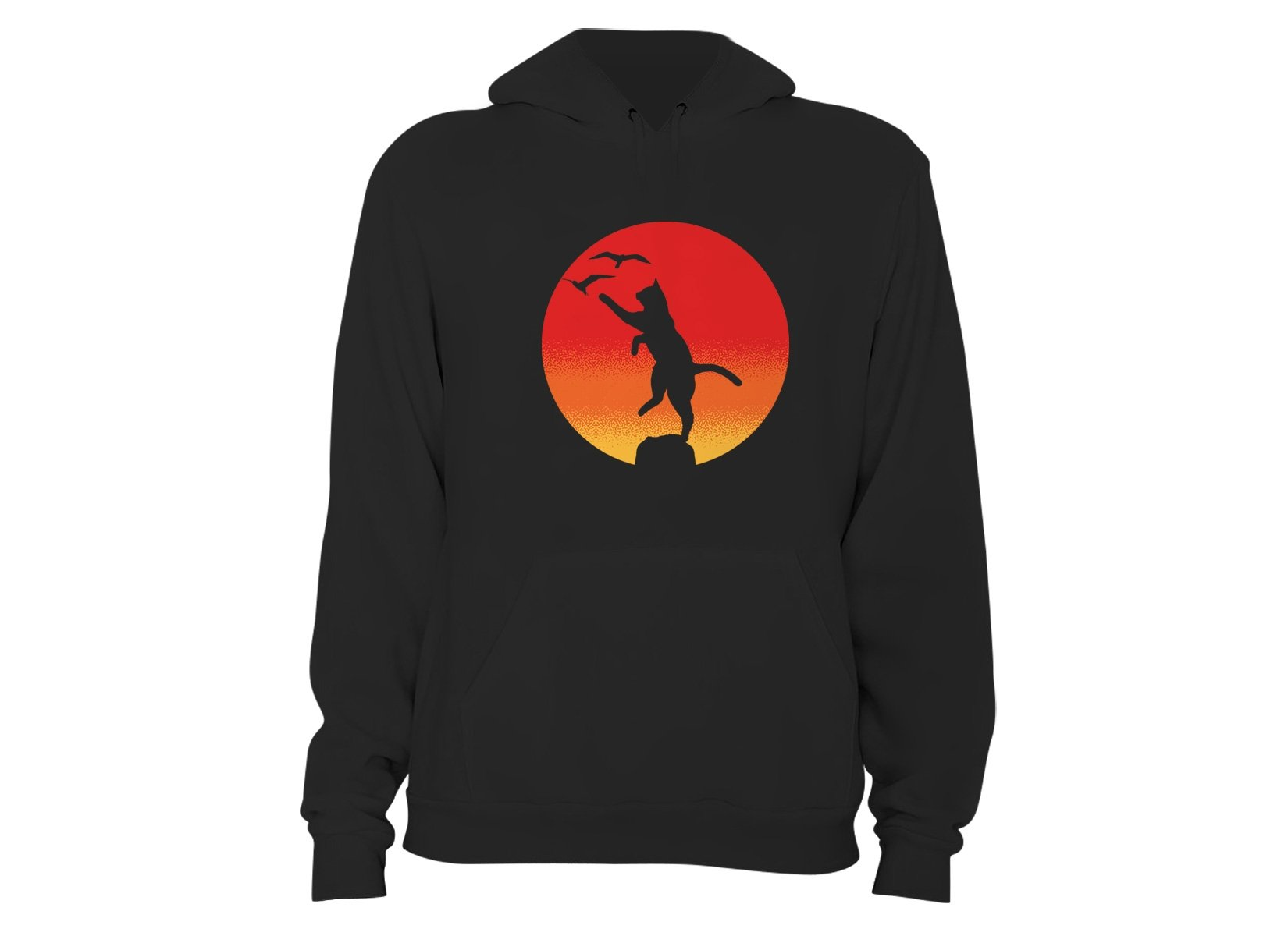 The Karate Cat on Hoodie