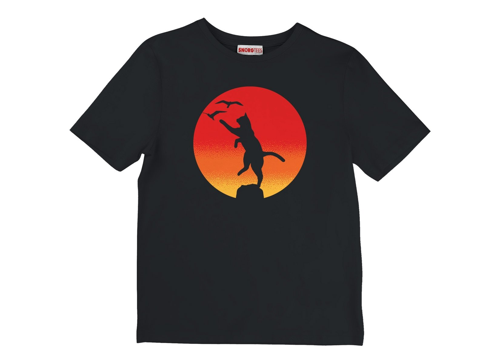 The Karate Cat on Kids T-Shirt