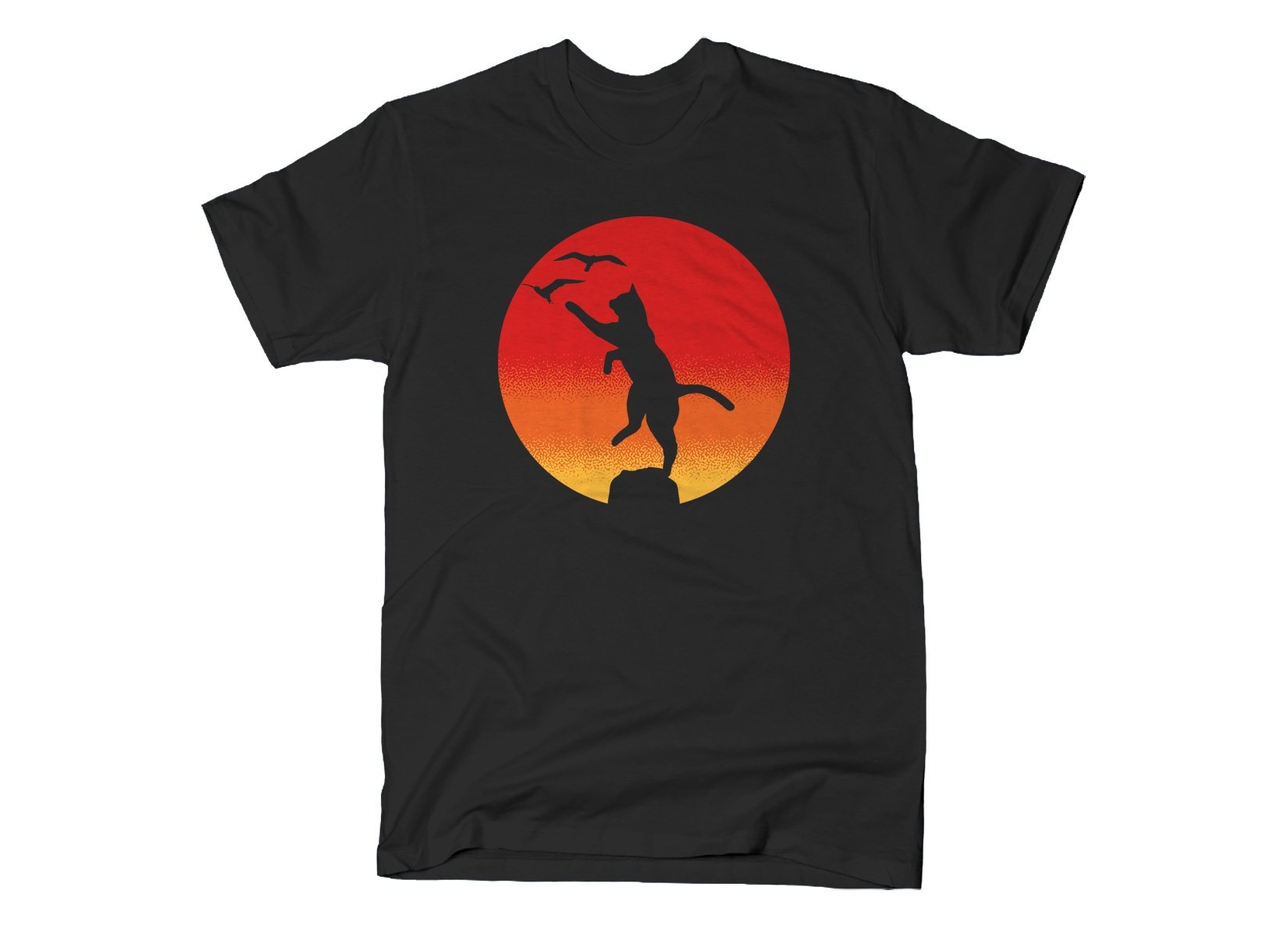 The Karate Cat on Mens T-Shirt