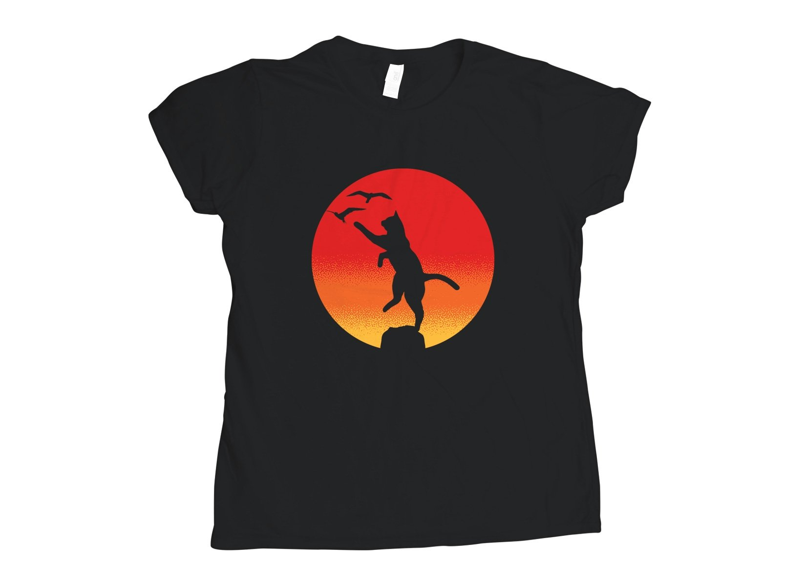 The Karate Cat on Womens T-Shirt