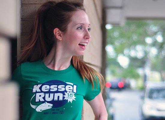 Kessel Run on Juniors T-Shirt