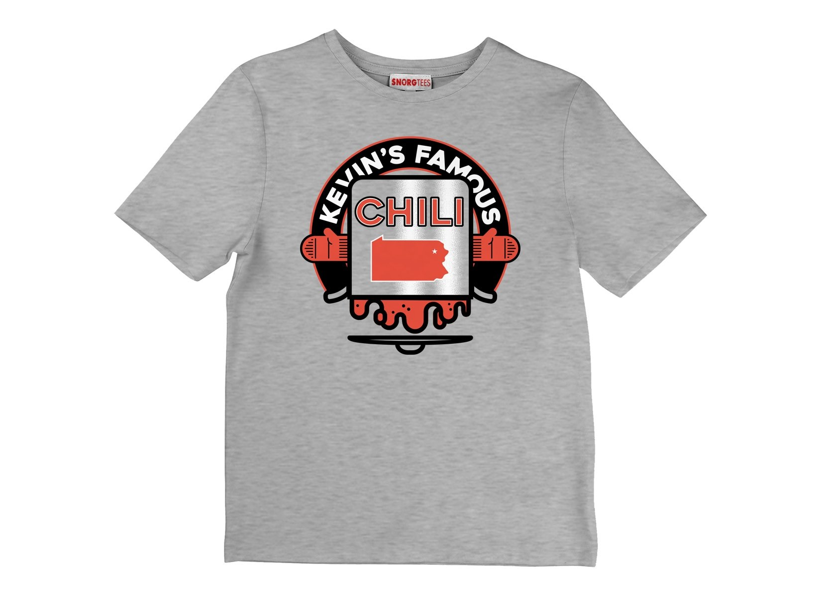 Kevin's Famous Chili on Kids T-Shirt