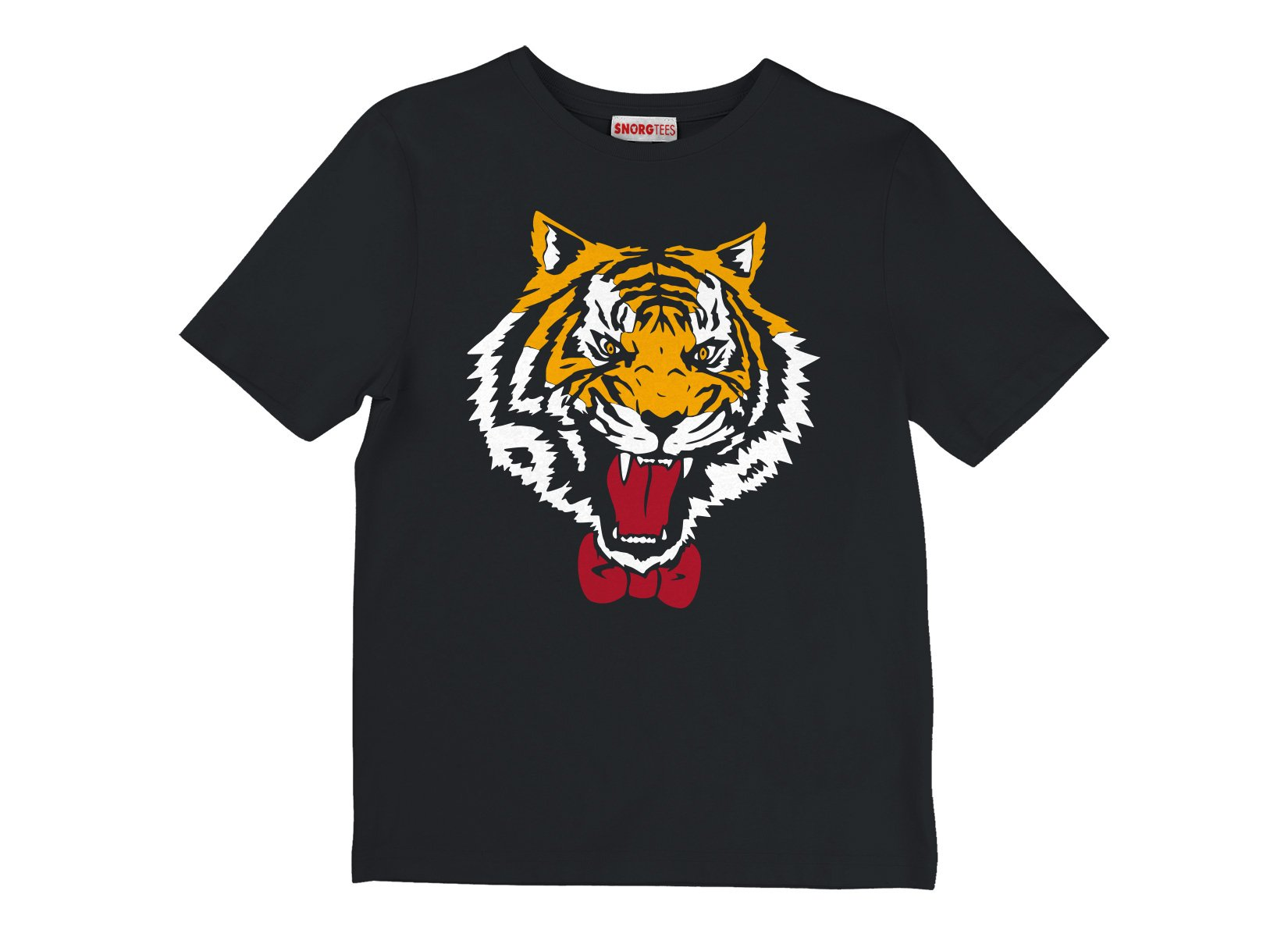 Tiger Bow Tie on Kids T-Shirt