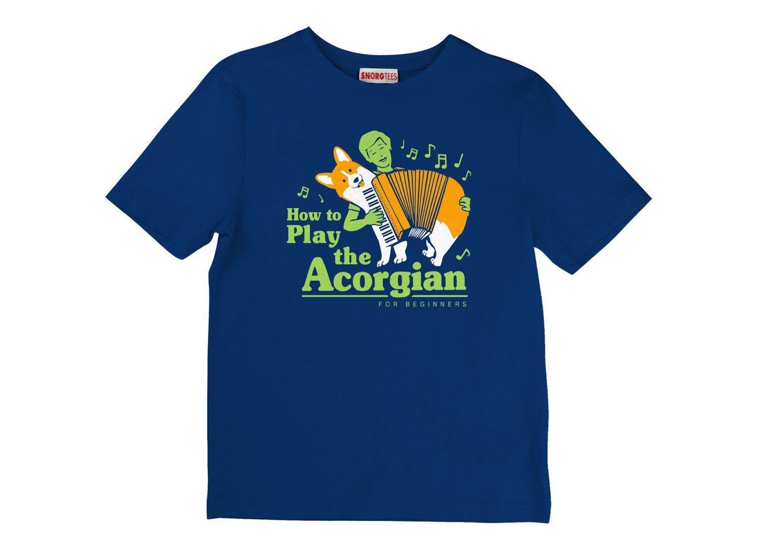 How To Play The Acorgian on Kids T-Shirt