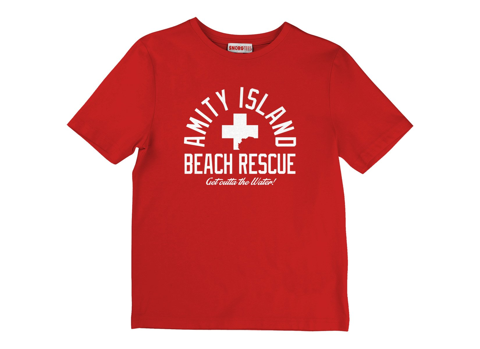 Amity Island Beach Rescue on Kids T-Shirt