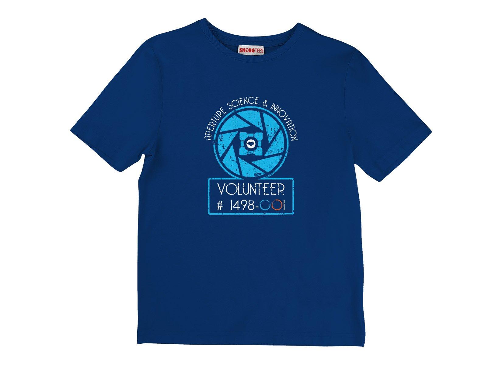 Aperture Science Volunteer on Kids T-Shirt