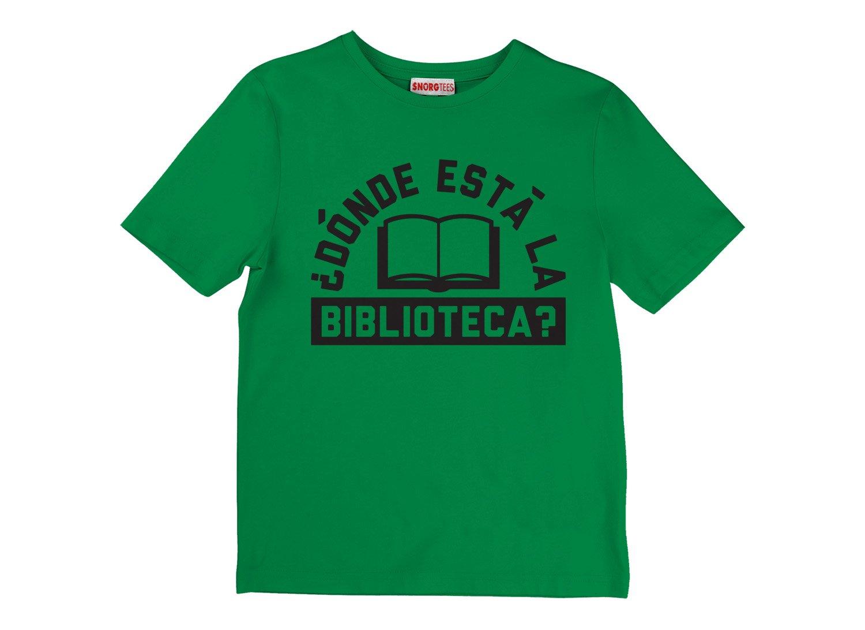 Donde Esta La Biblioteca? on Kids T-Shirt