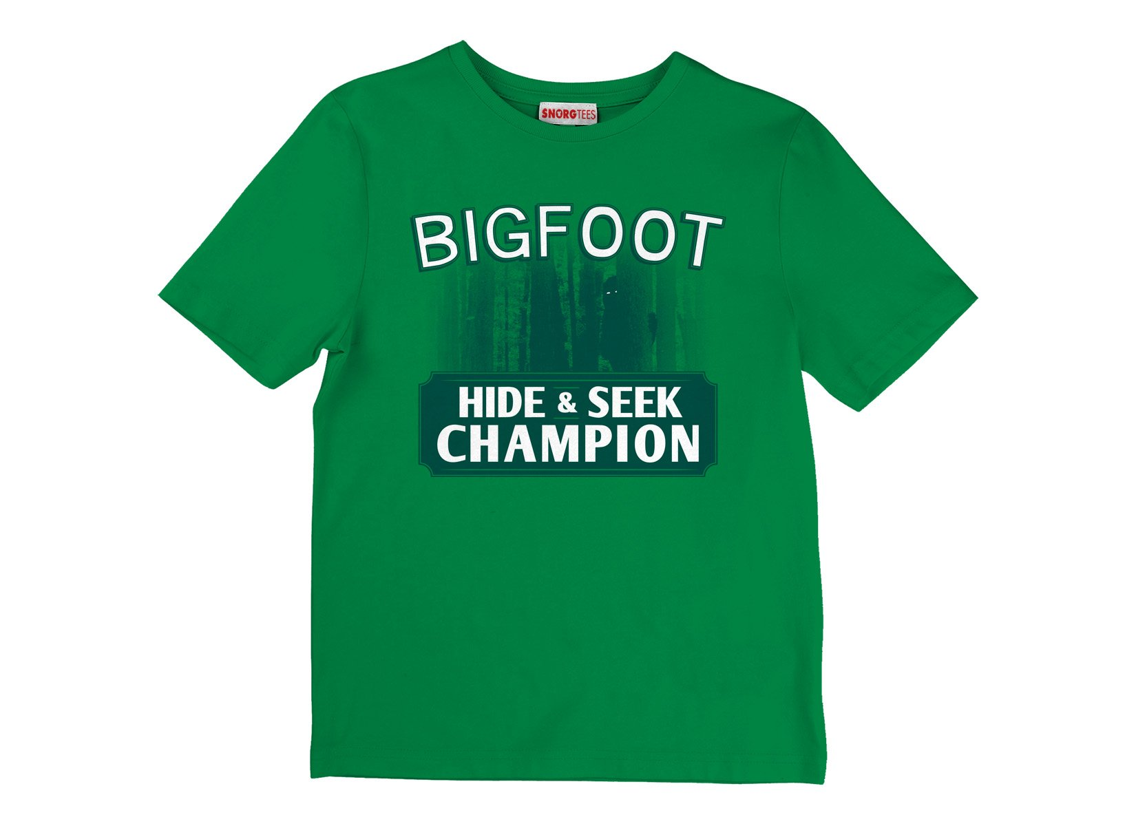 Bigfoot Hide And Seek Champion on Kids T-Shirt