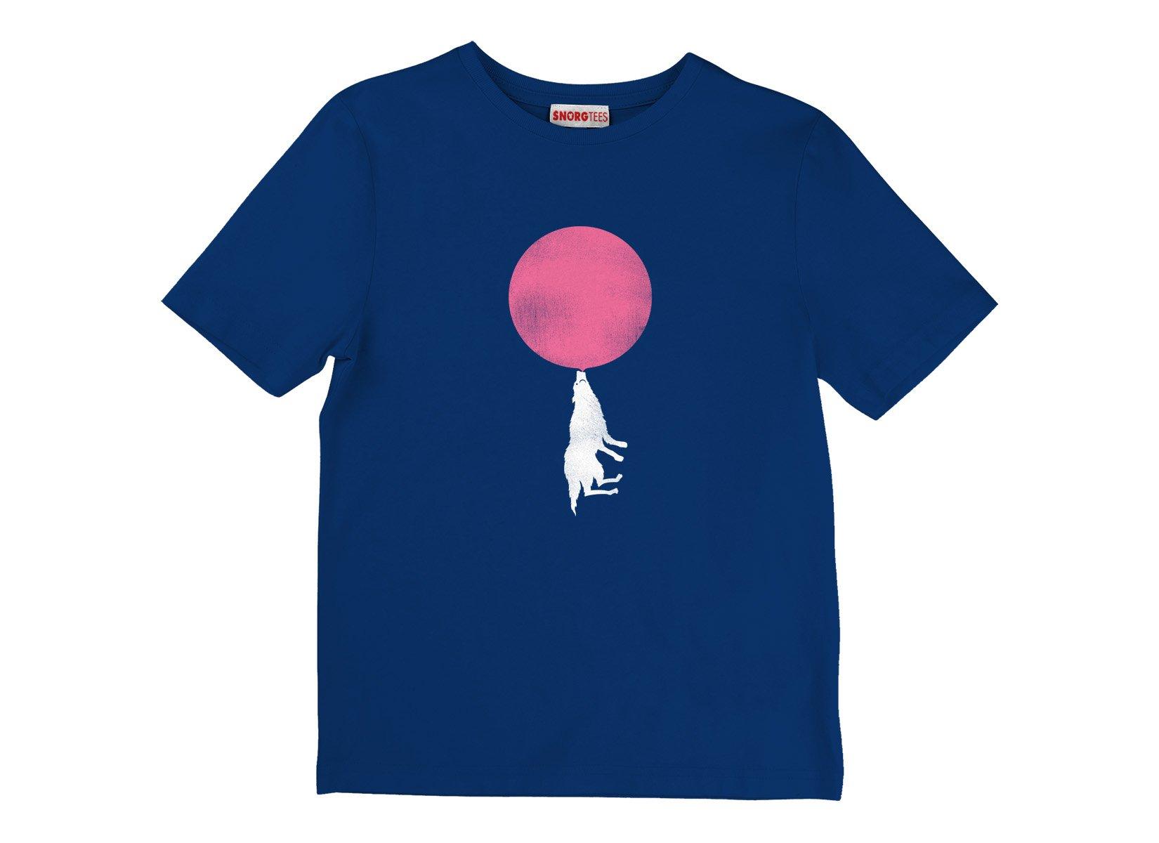 Bubble Moon on Kids T-Shirt