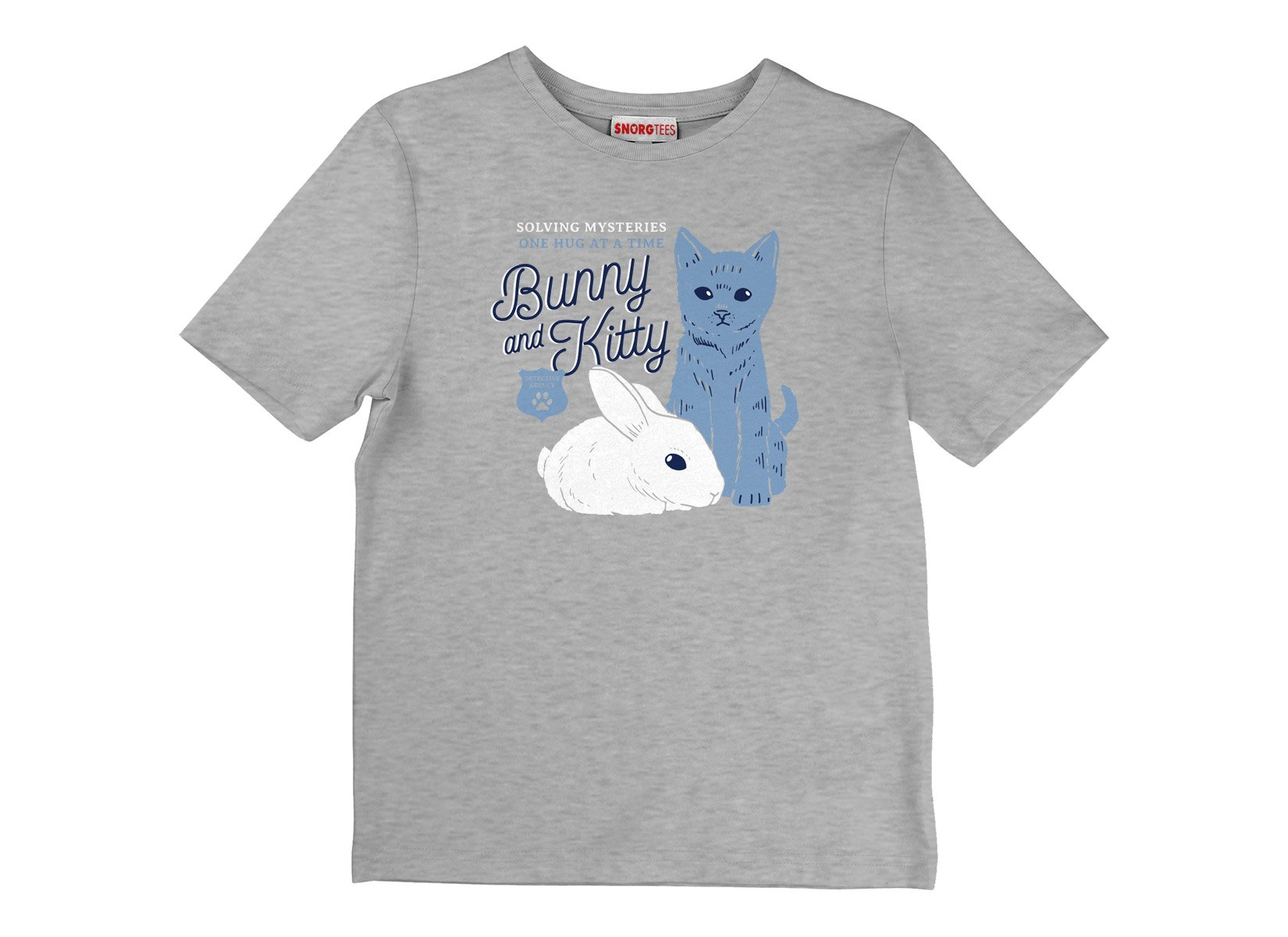 Bunny And Kitty on Kids T-Shirt